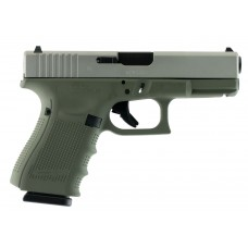 """Glock  G19 Double 9mm Luger 4.01"""" 15+1 Forest Green Poylmer Grip Stainless"""