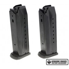 Ruger 90449 Replacement Magazine 2 Pack SR9/SR9C/SR9E  9mm 17rd Black