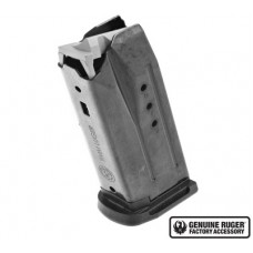 Ruger 90667 Security9 Compact 9mm Luger 10 Round Steel Black Finish Magazine