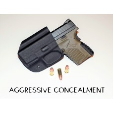 """Aggressive Concealment XDSIWBBK Tuckable IWB Kydex Holster for The Springfield XDS 3.3"""" 9/45 Right Hand"""