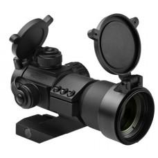 NCStar DRGB135 Small Tube Reflex Optic 1x 35mm Obj 3 MOA Dot Red/Green/Blue Black Hard Coat Anodized CR2032 Lithium