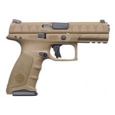 """Beretta USA JAXF92005 APX Full Size Single/Double 9mm Luger 4.9"""" 10+1 Flat Dark Earth Interchangeable Backstrap Grip Flat Dark Earth"""