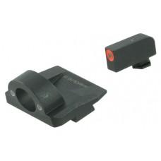 AmeriGlo GL5225 Ghost Ring Night Sight Glock 17/19/19x/26 Gen5 Green Tritium w/Orange Outline Tritium Green Black