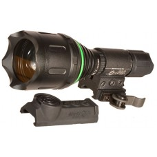 Aimshot TZ980GR TZ980  With Rail Mount LED 400 Lumens Green CR123A Lithium (2) Aluminum Black