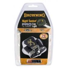 Browning 3715099 Night Seeker Pro Cap Light 60 Lumens AAA (1) Black