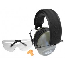 Birchwood Casey 43425 Vektor Shooting Combo  Earmuffs/Shooting Glasses Clear