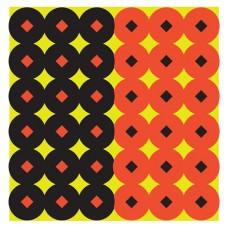 """Birchwood Casey 34117 Shoot-N-C   1"""" Self-Adhesive Diamond/Circle Target 432 Pasters Orange/Black"""