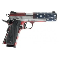 "Citadel CIT45FSPUSA 1911-A1 Full Size Single 45 Automatic Colt Pistol (ACP) 5"" 8+1 Black G10 Grip American Flag Cerakote"