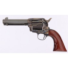 "Taylors and Company 555148 1873 Cattleman Gunfighter Single 357 Magnum 4.75"" 6 rd Walnut Army Sized Grip CCH Frame Blued"