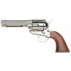 "Taylors and Company 555124 1873 Cattleman Nickel Single 357 Magnum 4.75"" 6 rd Walnut Grip Nickel"