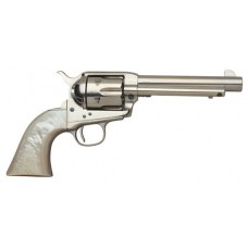 "Taylors and Company 555113 1873 Cattleman Nickel Single 45 Colt (LC) 4.75"" 6 rd Mother of Pearl Grip Nickel"