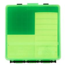 """MTM P100916T Case-Gard P-100 Ammo Box 1.22"""" Max OAL 100 rd Clear Green/Black"""