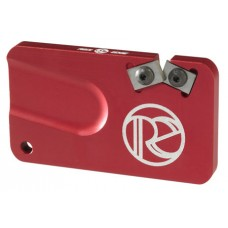 REDI-EDGE/KLAWHORN IND REPS201RD Pocket Knife Sharpener Duromite Carbide Red with Nylon Sheath