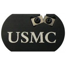 REDI-EDGE/KLAWHORN IND RECCMC Challenge Coin Knife Sharpener US Marine Corp Duromite Carbide Black