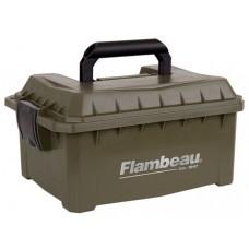 "Flambeau 7415SB Shotshell Ammo Can 12/20 Gauge 9.625"" L x 7.5"" W x 4.25"" D 4 Boxes Tan"