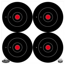 """Birchwood Casey 35570 Dirty Bird Bull's-Eye 6"""" Target 100 Pack Black/Red/White"""