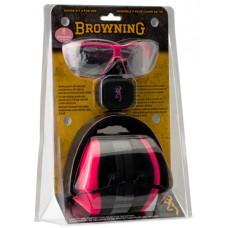 Browning 126373 Range Kit   Earmuff/Plugs/Glasses 27/31 dB Pink