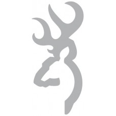 """Browning 3922005916 Buck Mark  Decal 6"""" Silver"""