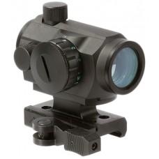 Aim Sports  Dual Illuminated Quick Detach 1x 20mm Obj 4 MOA Dual Illuminated Red/Green Dot Black