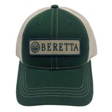 Beretta USA BC0620166000 Patch Trucker  Hat Green