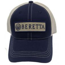 Beretta USA BC0620166005 Patch Trucker  Hat Navy