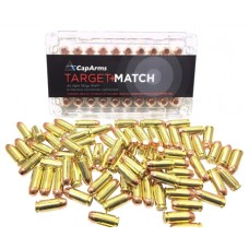 CapArms M040N180B Target Match 40 Smith & Wesson 180 GR Flat Point Concave Base 50 Bx/ 20 Cs