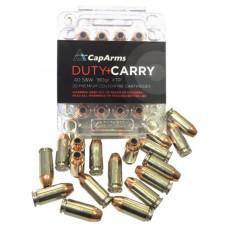 CapArms D040N180N Duty Carry 40 S&W 180 GR XTP HP 20 Bx/ 20 Cs