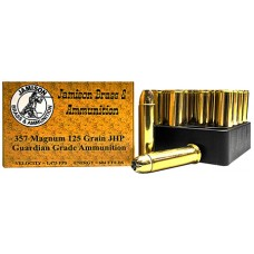 Jamison 357MAG125GRD Guardian Grade 357 Magnum 125 GR Jacketed Hollow Point 20 Bx/ 10 Cs