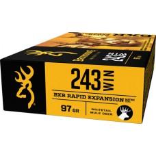 Browning Ammo B192102431 BXR Rapid Expansion 243 Win 97 GR Matrix Tip 20 Bx/ 10 Cs
