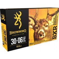 Browning Ammo B192130061 BXR Rapid Expansion 30-06 Springfield 155 GR Matrix Tip 20 Bx/ 10 Cs