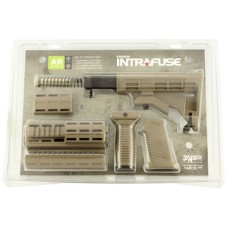 Tapco 16815 Intrafuse AR-15 T6 Composite  Stock Set Flat Dark Earth