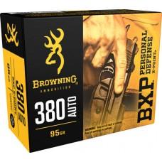 Browning Ammo B191703801 BXP X-Point 380 ACP 95 GR HP 20 Bx/ 10 Cs