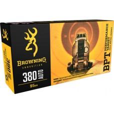 Browning Ammo B191803801 BPT Performance 380 ACP 95 GR FMJ 50 Bx/ 10 Cs