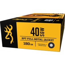 Browning Ammo B191800401 BPT Performance 40 Smith & Wesson 180 GR Full Metal Jacket 50 Bx/ 10 Cs
