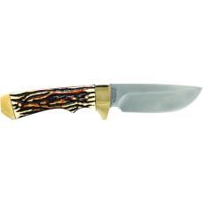 "S&W Knives 182UH Elk Hunter Fixed 3.83"" 7Cr17 SS Drop Point Staglon Slabs"