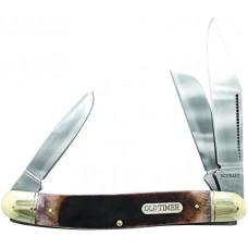 "Old Timer 858OTB Lumberjack 3.42"" 440C SS Clip Point/Sheepsfoot/Pen Sawcut Bone"