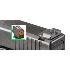 AmeriGlo GL434 Hackathorn Sight Glock 20/21/29/30/31/32/36/40/41 Steel Green w/Orange Outline Blk