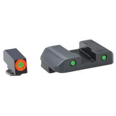 AmeriGlo GL448 Spartan Operator Night Sights Glock 20/21/29/30/31/32/36/40/41 Tritium/Paint Green w/Orange Outline Tritium/Paint Green w/Black Outline Black
