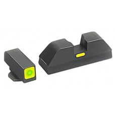 AmeriGlo GL605 CAP Night Sight Glock 42/43 Tritium/Paint Green w/Lime Outline Blk