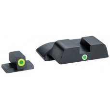 AmeriGlo SW301 i-Dot Night Sight S&W M&P Steel Green w/Lime Outline Blk