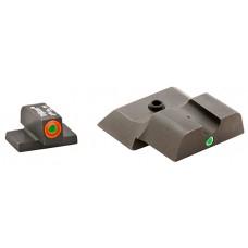 AmeriGlo SW245 i-Dot Night Sight S&W M&P Shield Tritium/Paint Green w/Orange Outline Blk