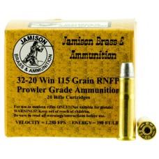 Jamison 3220WCF115PR Prowler Grade 32-20 Winchester 115 GR Round Nose Flat Point 20 Bx/ 10 Cs