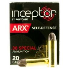 PolyCase Ammo 38ARXBRS920 Inceptor 38 Special 77 GR ARX 20 Bx/ 10 Cs