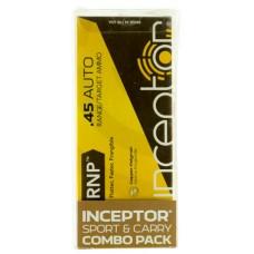 PolyCase Ammo 45RNPARX Inceptor 45 ACP 130 GR/118 GR RNP/ARX 120 Bx/ 12 Cs