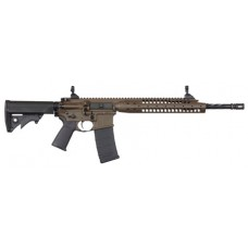 "LWRC ICA5RPBC16 Individual Carbine A5 Semi-Automatic 223 Remington/5.56 NATO 16.1"" 30+1 Adjustable Black Stk Patriot Brown"