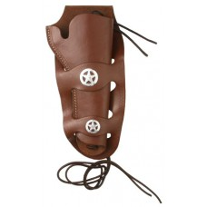 Hunter Company 108067 Western Double Loop  Ruger Single 6 Leather Brown