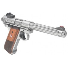 """Ruger 40118 Mark IV Hunter Double 22 Long Rifle 6.88"""" 10+1 Laminate Wood Grip Stainless Steel"""