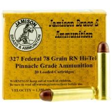 Jamison 327FED78FR Pinnacle Grade 327 Federal 78 GR Round Nose 20 Bx/ 10 Cs