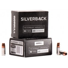 GORILLA AMMUNITION SB9135SD Silverback 9mm Luger 135 GR Solid Copper Hollow Point 20 Bx/ 10 Cs