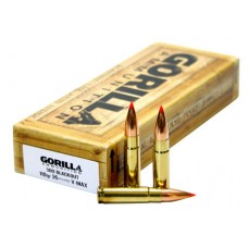 GORILLA AMMUNITION GA300110VMAX Gorilla Match 300 AAC Blackout/Whisper (7.62X35mm) 110 GR V-Max 20 Bx/ 10 Cs